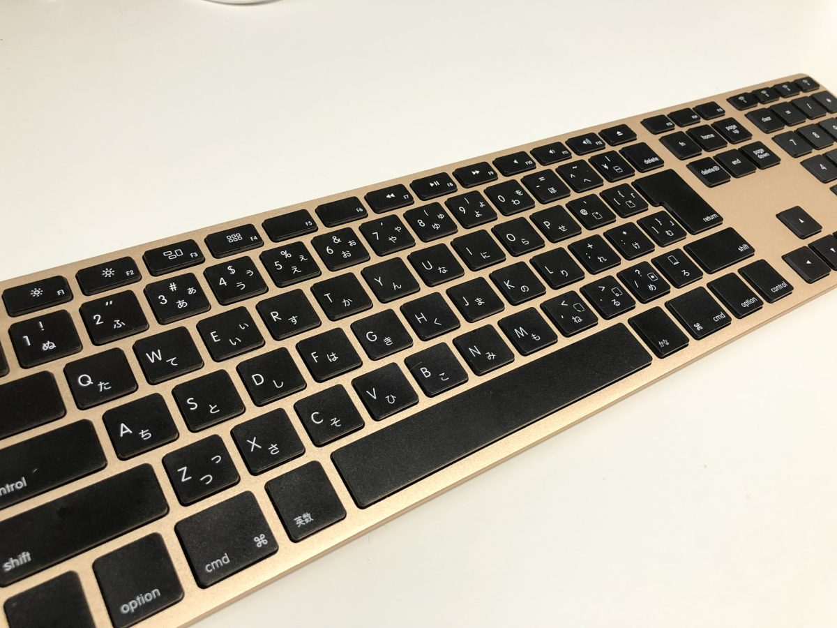 Matias Wireless Aluminum Keyboard MAC配列ゴールド/ブラック FK418BTG-JP